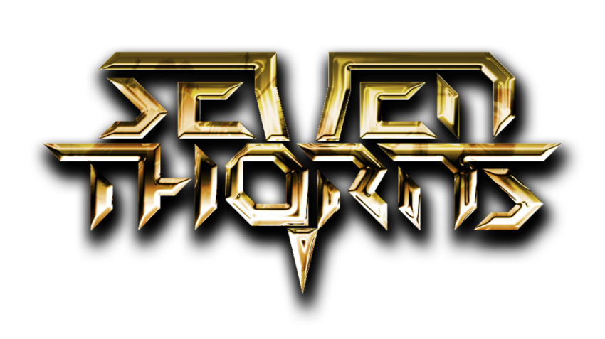 seven thorns   logo gold